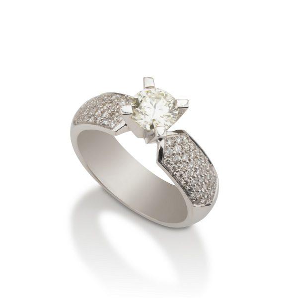 טבעת סוליטר יהלום