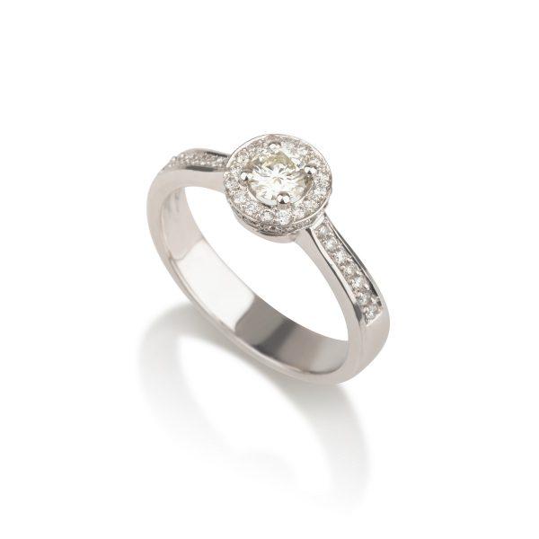 טבעת סוליטר זהב יהלומים