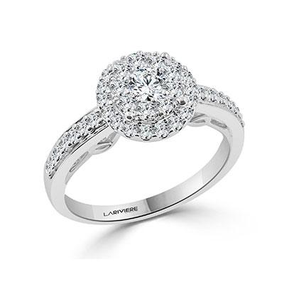 טבעת אירוסין זהב לבן דגם r19050w