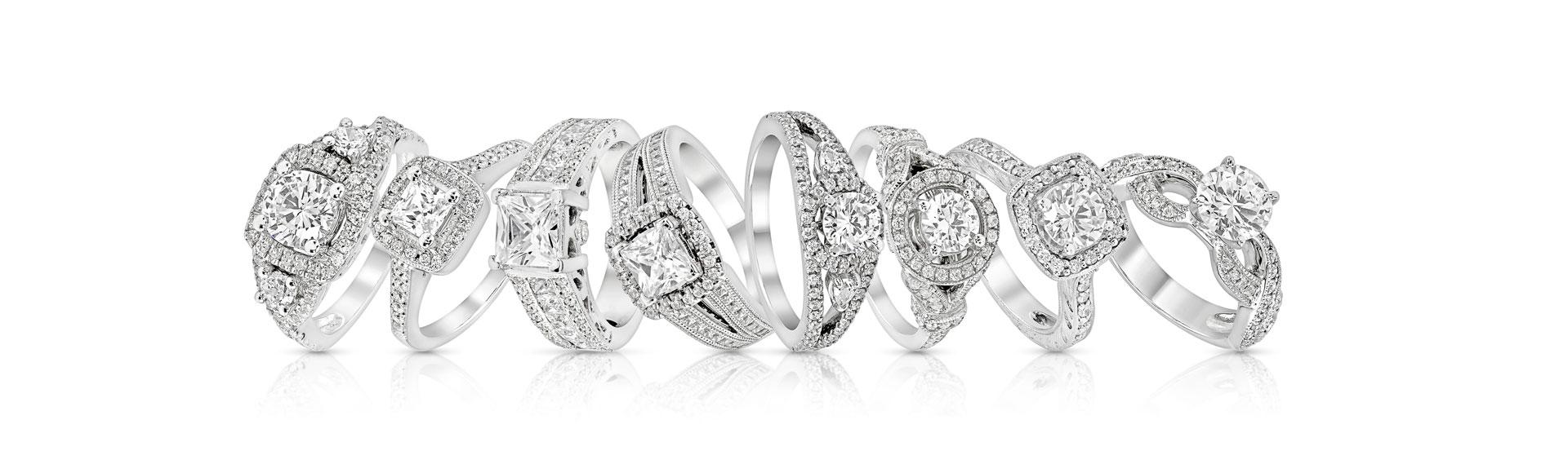 טבעות משובצות יהלומים